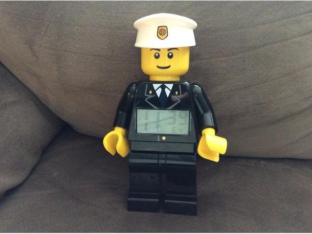 LEGO policeman alarm clock