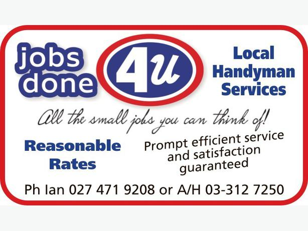 JOBS DONE FOR YOU - HANDYMAN SERVICES Rangiora, www - MOBILE